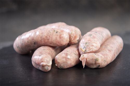 Pork & Leek Thick Sausages (6) - 01