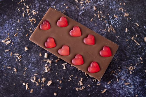 Jelly Hearts Milk Chocolate Bar - Cocoba - 44 Foods - 01