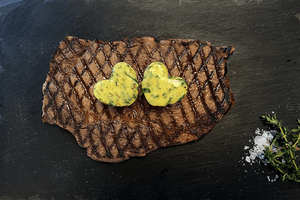 Sharing Ribeye Steak with Heart Garlic and Herb Butter 420g - JW Galloway - 44 Foods - 01