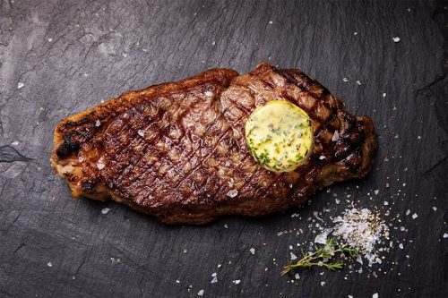 Sirloin Steak with Herb and Garlic Butter 247g - JW Galloway - 44 Foods - 01